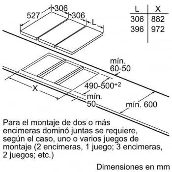Placa de Inducción Bosch PIB375FB1E | 30 cm | Modular | 2 Zonas de Inducción con Sprint | DirectSelect | Serie 6 - 8