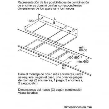 Placa de Inducción Bosch PIB375FB1E | 30 cm | Modular | 2 Zonas de Inducción con Sprint | DirectSelect | Serie 6 - 9
