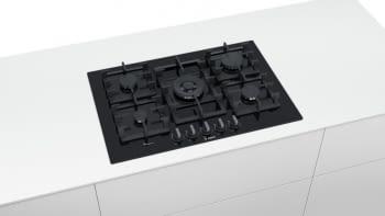Placa de Gas Bosch PPQ7A6B90 con Gas Natural de 75 cm con 5 Quemadores FlameSelect 9 niveles | Serie 8 - 5