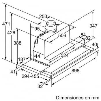 Campana Telescópica Bosch DFS097K50 en Acero inoxidable de 90 cm a 708 m³/h | Motor EcoSilence - 5