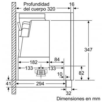 Campana Telescópica Bosch DFS097K50 en Acero inoxidable de 90 cm a 708 m³/h | Motor EcoSilence - 10