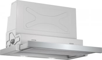 Campana Telescópica Bosch DFS067A50 Plateada de 60 cm a 739 m³/h | Motor EcoSilence Clase B | Serie 4/STOCK