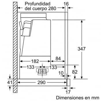 Campana Telescópica Bosch DFS067A50 Plateada de 60 cm a 739 m³/h | Motor EcoSilence Clase B | Serie 4 - 7