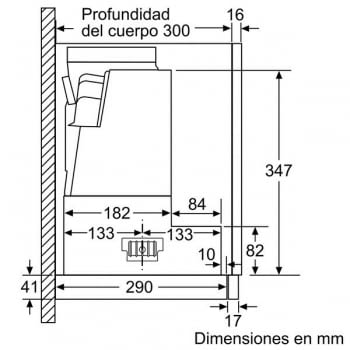 Campana Telescópica Bosch DFS067A50 Plateada de 60 cm a 739 m³/h | Motor EcoSilence Clase B | Serie 4 - 8