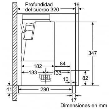 Campana Telescópica Bosch DFS067A50 Plateada de 60 cm a 739 m³/h | Motor EcoSilence Clase B | Serie 4 - 9