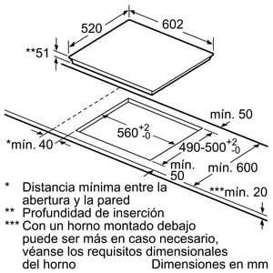 Siemens EH675LDC1E Inducción 60cm | 3 Zonas Inducción max 32cm - 4