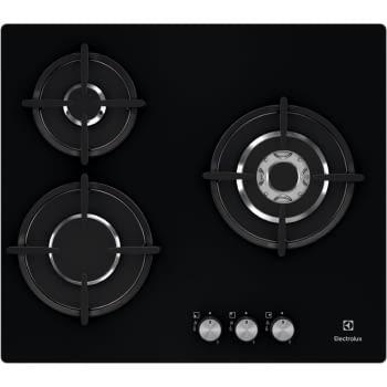 Placa de Gas Electrolux EGT6633NOK de 60 cm con 3 Quemadores, 1 Wok, 1 Ultrarrápido, DirectFlame - 1