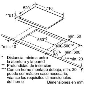 Siemens EH775LDC1E Inducción 70cm | 3 Zonas de Inducción de max. 32cm - 6