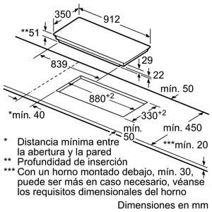 Placa de Inducción Siemens EX275FXB1E Flexible de 90 cm | Función powerMove | Control touchSlider - 6