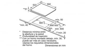 Placa de Inducción Balay 3EB965LR de 60 cm con 3 Zonas de Inducción con función Sprint - 6