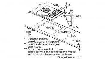 Balay 3ETG663HB Placa Gas Butano Cristal Negro 3 Fuegos 60 cm - 2