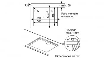 Balay 3ETG663HB Placa Gas Butano Cristal Negro 3 Fuegos 60 cm - 3