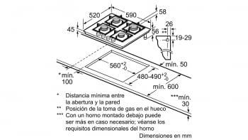 Balay 3ETG664HB Placa Gas Cristal Negro 4 Fuegos 60 cm - 2