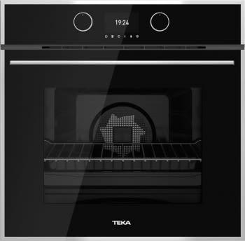 Horno Teka HLB 860 P Pirolítico en Cristal Negro con 5 alturas de cocción | Asistente de cocinado con 20 recetas | A+