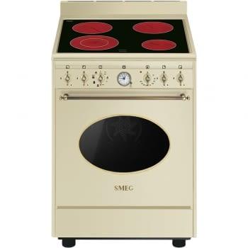 SMEG CO68CMP9S Cocina vitrocerámica colonial 60CM | 4 Zonas de cocción | Crema acabados latón | A