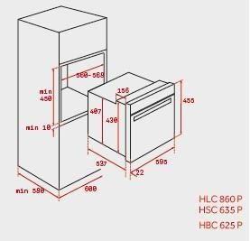 TEKA HSC 635P HORNO COMPACTO INOX PIROLITICO ABATIBLE A+ TOTAL - 3
