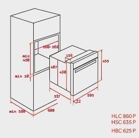 TEKA HBC 625P HORNO COMPACTO INOX PIROLITICO ABATIBLE A+ EASY - 2