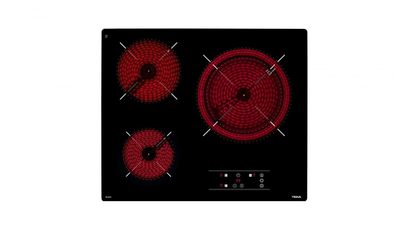 TEKA TB 6315 VITROCERAMICA 3 ZONAS MAX 27CM CRISTAL SIN MARCO STOCK