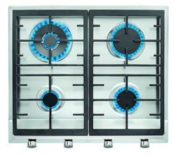 TEKA EX 60.1 4G AI AL DR CI NAT (E1) PLACA GAS 4 FUEGOS INOX / STOCK