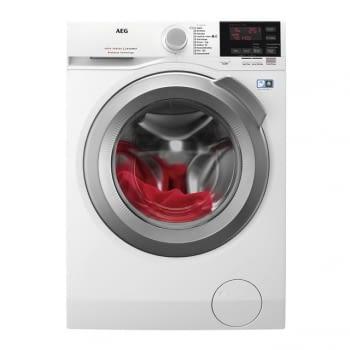 Lavadora Inverter AEG L6FBG844 color Blanco de 8KG 1400RPM A+++ -20% | Tecnología ProSense | Serie 6000