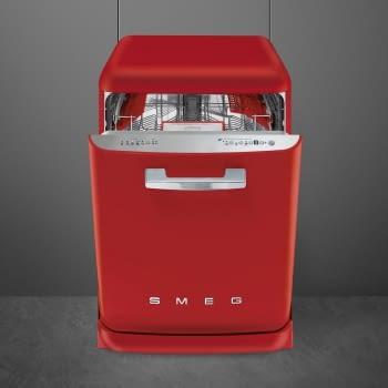 Lavavajillas Smeg LVFABRD2 Color Rojo Libre Instalación Estética Retro Años 50 A+++ | Instalación Disponible