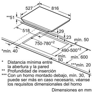 Bosch PXV875DC1E Inducción 80cm | 1 zona doble Flex de 21 x 40 cm - 5