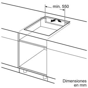Inducción Bosch PUE645BB1E Encimera de 60cm con 4 Zonas y Marco de Acero Inoxidable | Zona Máxima 21cm - 5