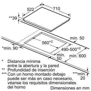Placa Vitrocerámica Bosch PKD751FP1E de 70 cm con 3 Zonas de cocción con función Sprint | DirectSelect | Serie 6 - 5