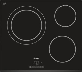 Placa Vitrocerámica Bosch PKK631B18E de 60 cm con 3 Zonas de cocción | TouchSelect | Serie 4