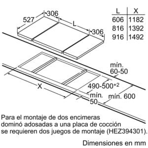 Placa Dominó Bosch PKF375FP1E Vitrocerámica de 30 cm con 2 Zonas de cocción | DirectSelect | Serie 6 - 5