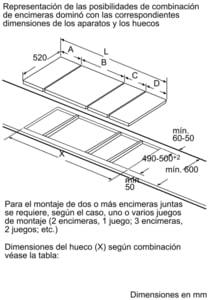 Placa Dominó Bosch PKF375FP1E Vitrocerámica de 30 cm con 2 Zonas de cocción | DirectSelect | Serie 6 - 9