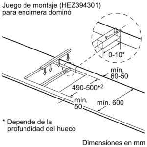 Placa Dominó Bosch PKF375FP1E Vitrocerámica de 30 cm con 2 Zonas de cocción | DirectSelect | Serie 6 - 11