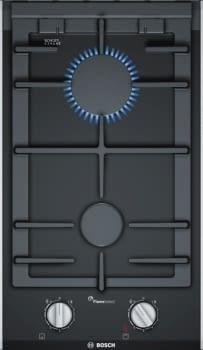 Placa Wok Dominó Bosch PRB3A6D70 de Gas Natural, de 30 cm con 2 Quemadores FlameSelect 9 niveles de potencia | Serie 8