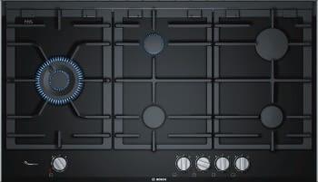Placa de Gas Bosch PRS9A6D70 con Gas Natural de 90 cm con 5 Quemadores FlameSelect 9 niveles | Serie 8
