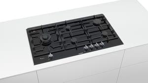 Placa de Gas Bosch PRS9A6D70 con Gas Natural de 90 cm con 5 Quemadores FlameSelect 9 niveles | Serie 8 - 2