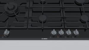Placa de Gas Bosch PRS9A6D70 con Gas Natural de 90 cm con 5 Quemadores FlameSelect 9 niveles | Serie 8 - 4