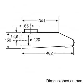 Campana Convencional Bosch DUL63CC55 Inoxidable de 60 cm a 350 m³/h | Clase D | Serie 4 - 8