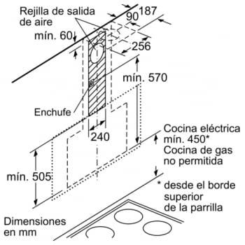 Campana decorativa de pared Bosch DWF97RV20 Blanca de 90 cm a 717 m³/h | WiFi Home Connect | Motor EcoSilence Clase B | Serie 8 - 12