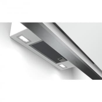 Campana decorativa de pared Bosch DWK98PR20 en Cristal Blanco de 90 cm a 837 m³/h   WiFi Home Connect   Motor EcoSilence Clase A+   Serie 8 - 5