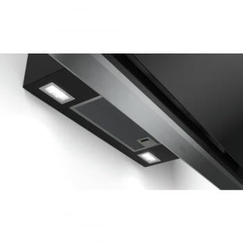Campana decorativa de pared Bosch DWK98PR60 en Cristal Negro de 90 cm a 837 m³/h | WiFi Home Connect | Motor EcoSilence Clase A+ | Serie 8 - 6