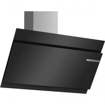 Campana decorativa de pared Bosch DWK98JQ60 en Cristal Negro de 90 cm a 836 m³/h | Motor EcoSilence Clase A+ | Serie 6