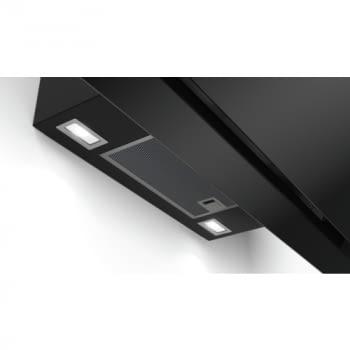 Campana decorativa de pared Bosch DWK98JQ60 en Cristal Negro de 90 cm a 836 m³/h | Motor EcoSilence Clase A+ | Serie 6 - 7