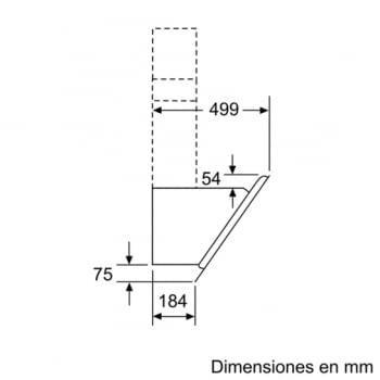 Campana decorativa de pared Bosch DWK98JQ60 en Cristal Negro de 90 cm a 836 m³/h | Motor EcoSilence Clase A+ | Serie 6 - 10