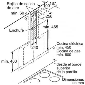 BOSCH DWK67IM20 CAMPANA CRISTAL BLANCO INCLINADA 60CM 660M3/H A - 9