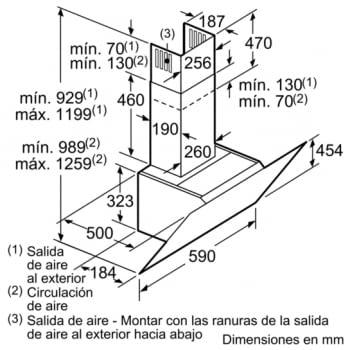 BOSCH DWK67IM20 CAMPANA CRISTAL BLANCO INCLINADA 60CM 660M3/H A - 10