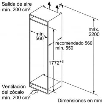 Frigorífico Combi KIN86AF30F Integrable de 177.2 x 55.8 cm No Frost Inverter A++ | Serie 6 - 8