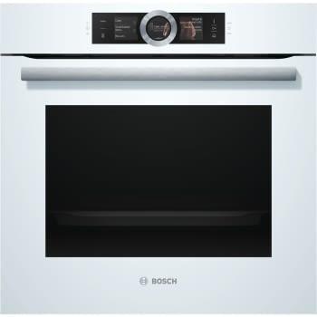 Horno de Vapor Bosch HSG636BW1 Inox| Cristal Blanco| Multifunción| Abatible| Clase A+