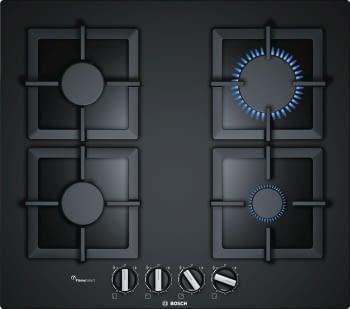 Placa de Gas Bosch PPP6A6B20 4 Fuegos Cristal Negro | A