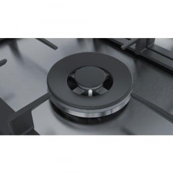 Placa de Gas Natural Bosch PCC6A5B90 Inoxidable de 60 cm con 2 Quemadores de Gas FlameSelect a 9 niveles + 1 Quemador Wok | Serie 6 - 4