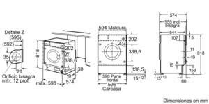LAVADORA SIEMENS WI12W320ES INTEGRABLE 8KG 1200RPM A+++ -20% - 5